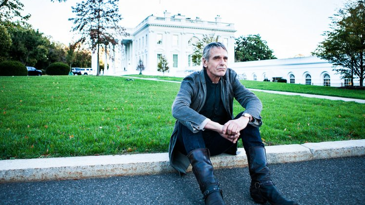 Jeremy Irons at white house